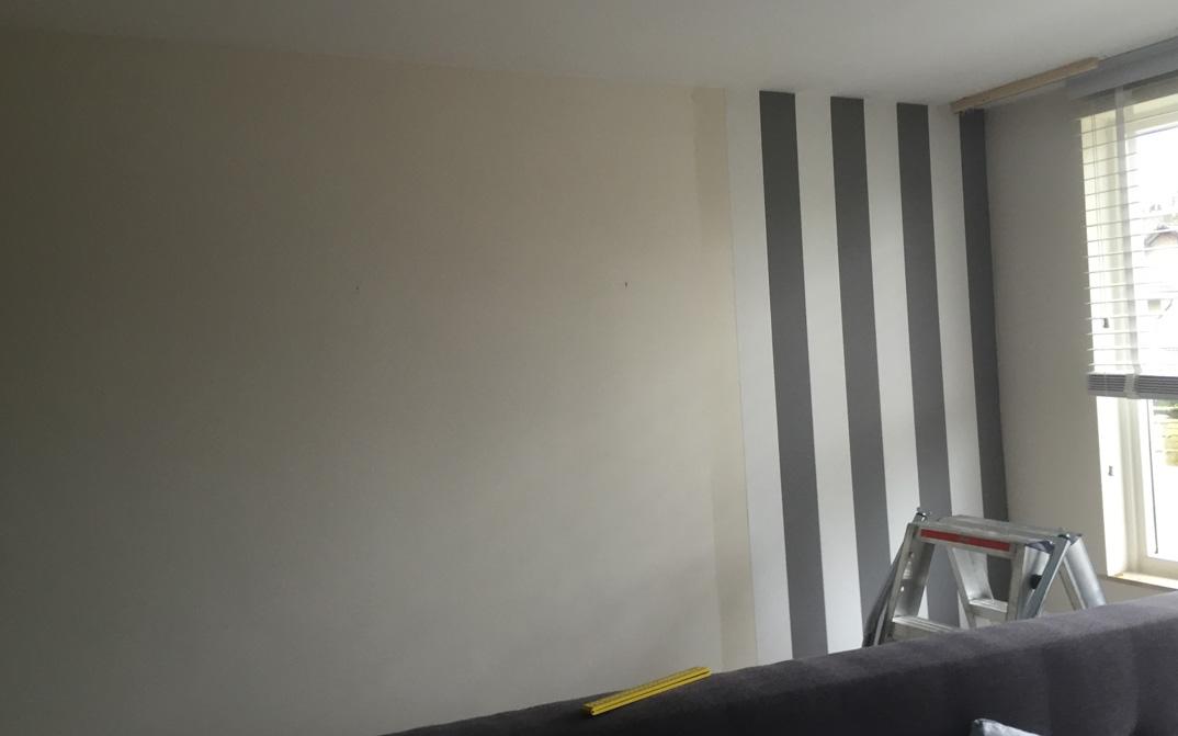 ≥ Dams Schilders | Referenties | Behangen slaapkamer Veldhoven